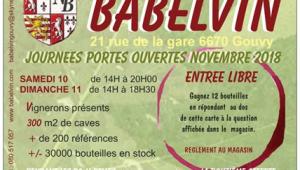 Portes Ouvertes – chez BABELVIN (Belgique)