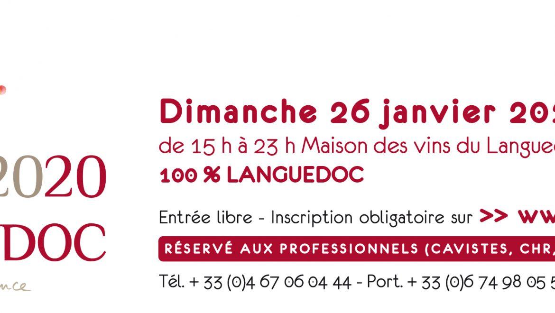 Salon des vins de l'AOC LANGUEDOC à Montpellier – Mas de Saporta – le dimanche 26 janvier 2020